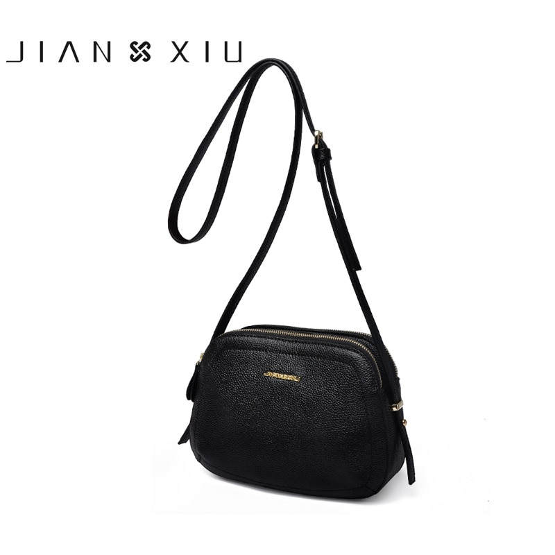 JIANXIU-حقيبة كتف نسائية من الجلد الطبيعي ، حقيبة كتف صغيرة ، 2021
