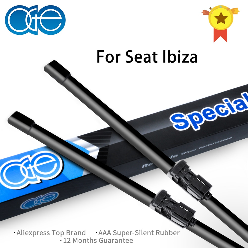 Limpiaparabrisas de goma de alta calidad para Seat Ibiza 2003-2017, accesorios de coche