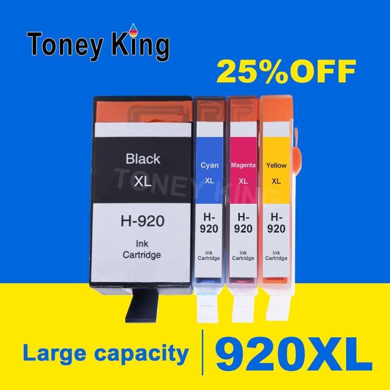 Cartucho de tinta para cartuchos HP 920 para impresoras HP920 920XL Officejet 6000 6500 inalámbricas 6500A 7000 7500 7500A Inkjet con chip