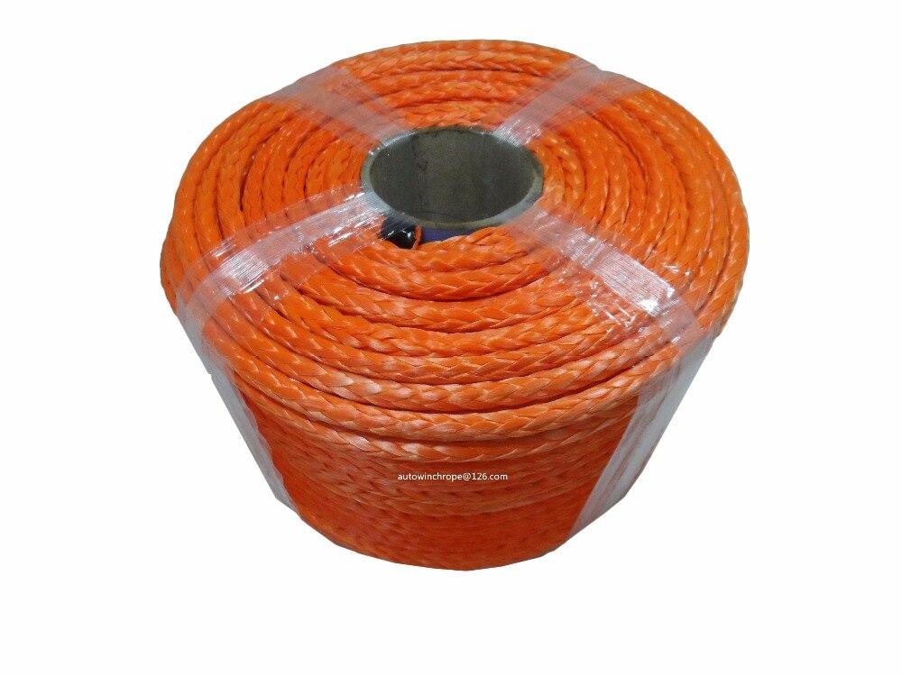 حبل ونش برتقالي 10 مللي متر * 100 م ، حبل صناعي ، حبل ip67 ، حبل الطرق الوعرة
