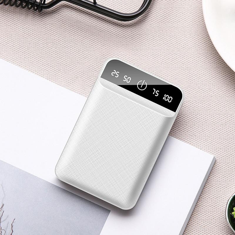10000 mAh Dual USB Mini banco de energía cargador portátil 10000 mAh 18650 baterías paquete para Xiaomi bateria externa Powerbank Pover banco