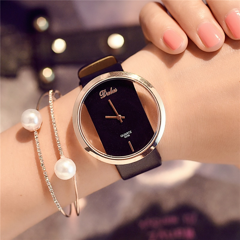 2020 New Watch Female Student Version Simple Leisure Atmosphere European American Trends South Korea Big Dial Quartz Wristwatch