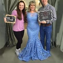 2019 Lace Mermaid Mother Of The Bride Dresses vestido de madrinha Jewel Sheer Neck Mermaid Prom Dresses Women Formal Party Gown