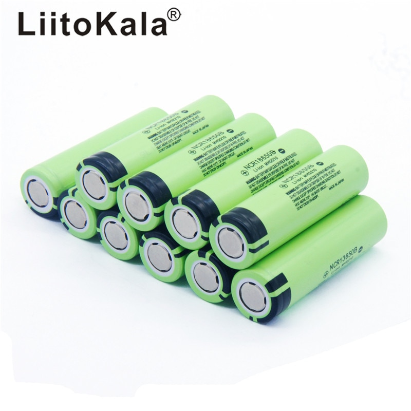 حار جديد 10 قطعة/الوحدة LiitoKala الأصلي 18650 بطارية 3400mah 3.7v بطارية ليثيوم لباناسونيك NCR18650B 3.7V مصباح يدوي البطارية