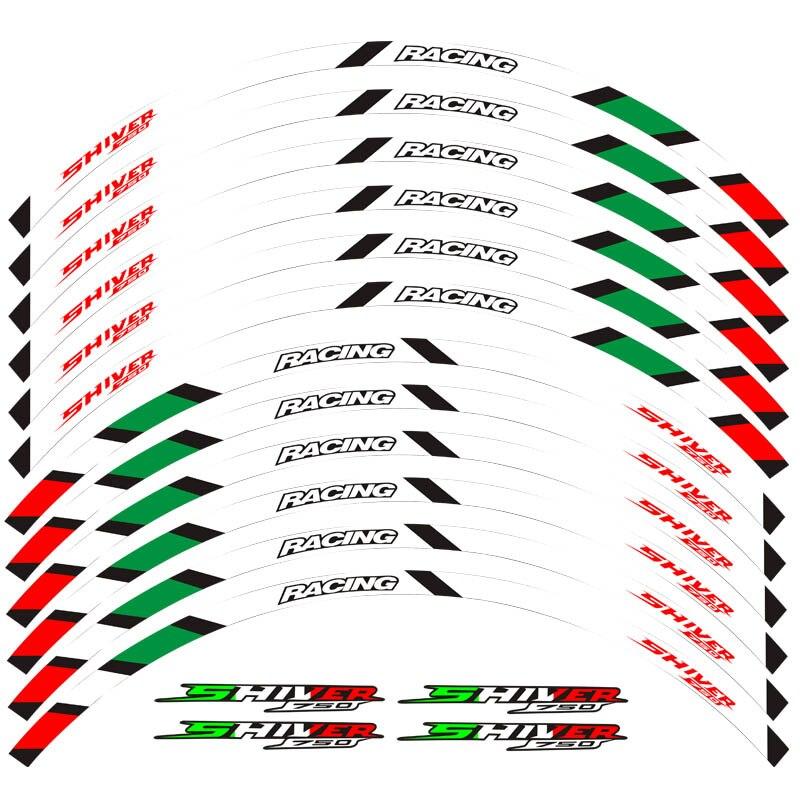 New motorcycle 12-piece stripe for 17-size wheel sticker stripe reflective waterproof rim for Aprilia SHIVER 750 shiver 750