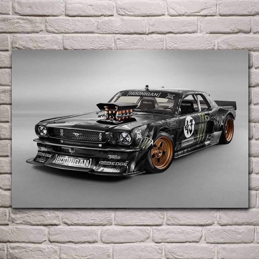 Varillas amerian muscle hot rod personalizado coche deportivo KA301 sala de estar hogar pared arte moderno decoración cartel con marco de madera