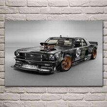 Amerian muscle hot rod tiges personnalisé sport voiture KA301 salon maison mur moderne art décor bois cadre affiche