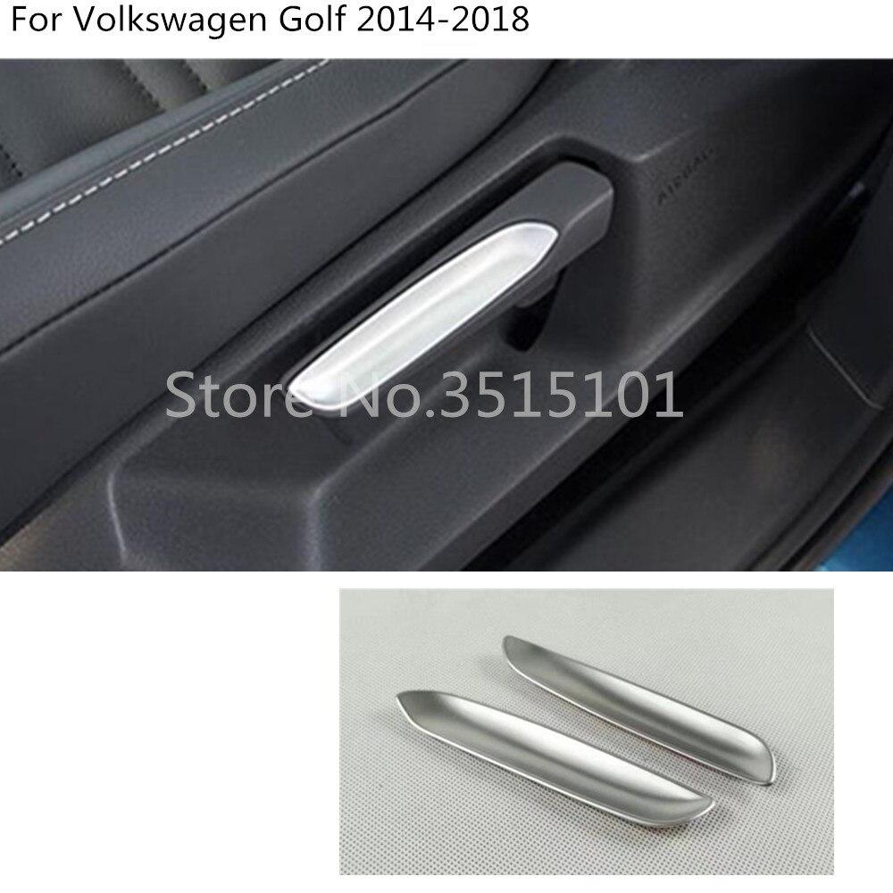 Botão de ajuste moldável para carro, botão de ajuste, botão de guarnição, 2 peças para volkswagen vw golf7 golf 7 2014 2015 2016 2017 2018