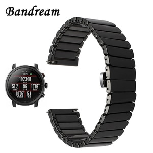 20mm 22mm Ceramic Watchband for Amazfit 1 / 2 / 2S Xiaomi Huami Bip Pace Quick Release Watch Band Steel Butterfly Buckle Strap