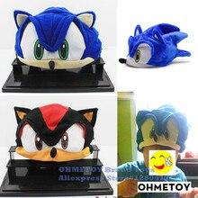 OHMETOY Sonic el Hedgehog de Cosplay sombrero juguetes de Sonic X FS Anime de peluche Beanie Cap trajes para niños los niños adolescentes