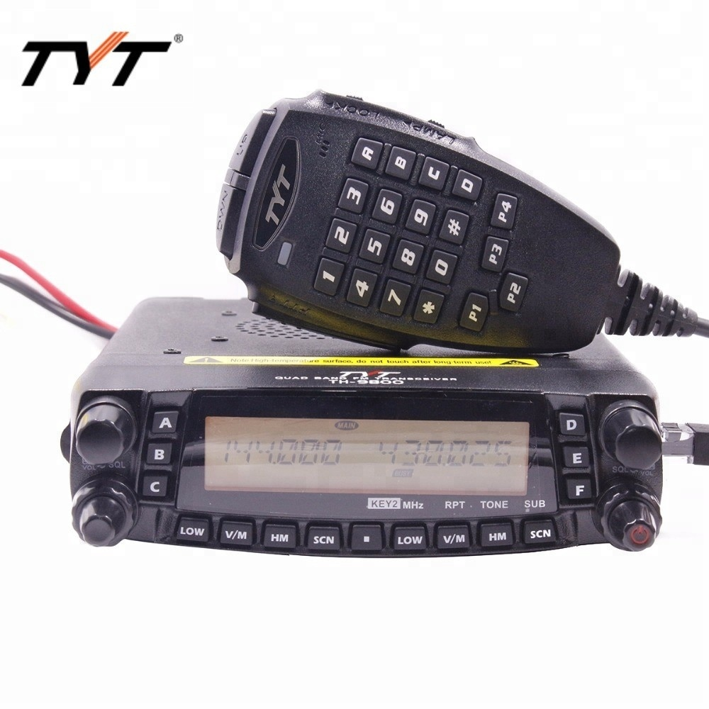 HOTTEST!!!TYT TH-9800 long distance car radio mobile walkie talkie 100KM Coverage VV,VU,UU Quad band Two-way radio Repeater