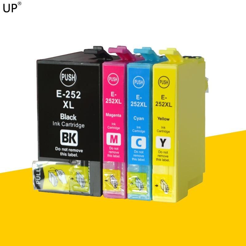 252XL 252 XL alta capacidad cartucho de tinta compatible para epson WF3620 WF3640 WF7610 WF7620 wf-7710 WF-7210 la tinta con chip