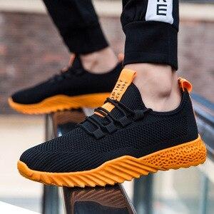 Летняя мужская повседневная обувь; Новинка 2019 года; сетчатый дышащий мужской обувь; брендовая мужская спортивная обувь; zapatillas hombre; модная же...
