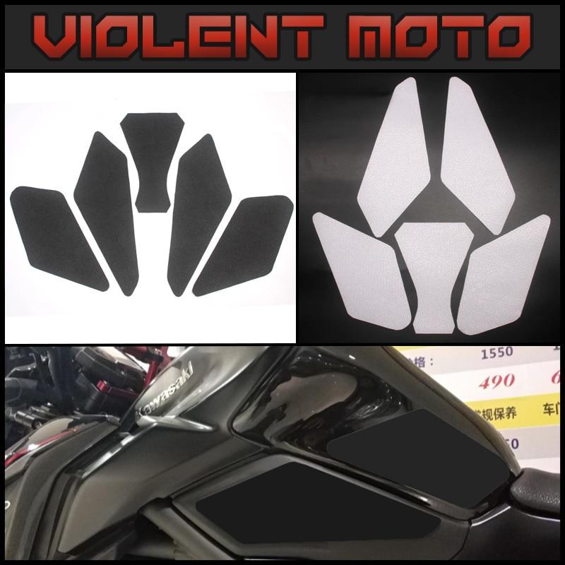 Для Kawasaki Z900 2017 Мотоциклетный Бак Тяговая накладка боковая защита для колена противоскользящая наклейка с супер сильным 3M adhe