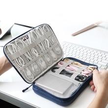 Sac de rangement numérique accessoires électroniques   Organisateur de câbles USB, sac découteur fil, batterie externe de stylo, Kit de voyage, étui pochette