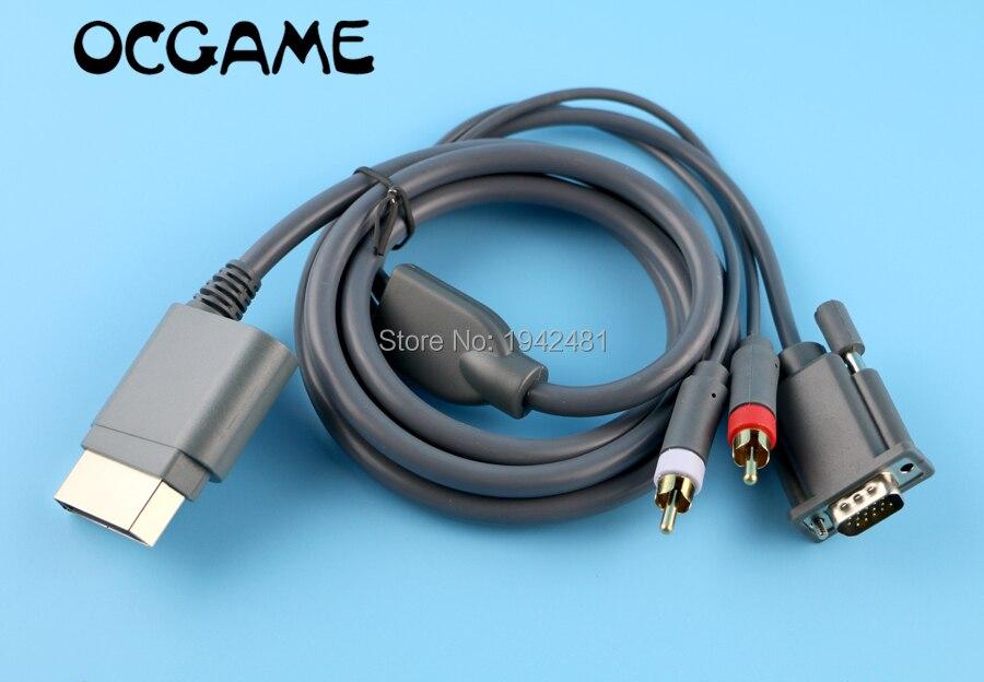 OCGAME 2 unids/lote alta calidad Video Audio AV PC cable VGA para...