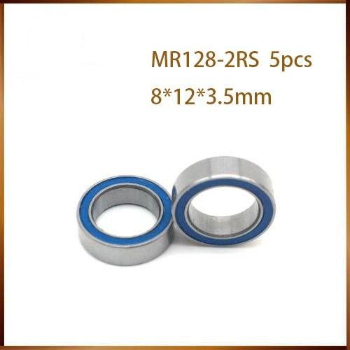 Envío Gratis 5 unids/lote MR128-2RS 678-2RS MR128 678 rodamiento rígido de bolas 8x12x3,5mm miniatura rodamiento