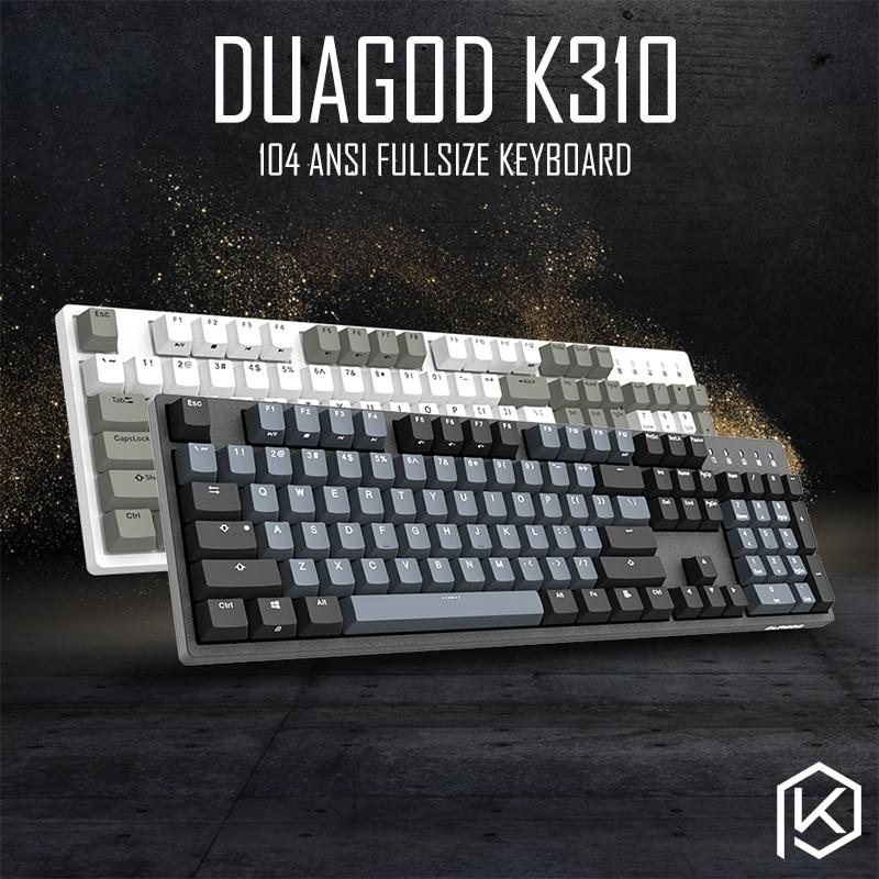 كيبورد ملون ، كيبورد تورس, لوحة مفاتيح تورس ميكانيكية طراز durgod 104 taurus k310 باستخدام مفاتيح cherry mx pbt doubleshot keycaps ألوان مفاتيح بني أزرق أسود أحمر فضي