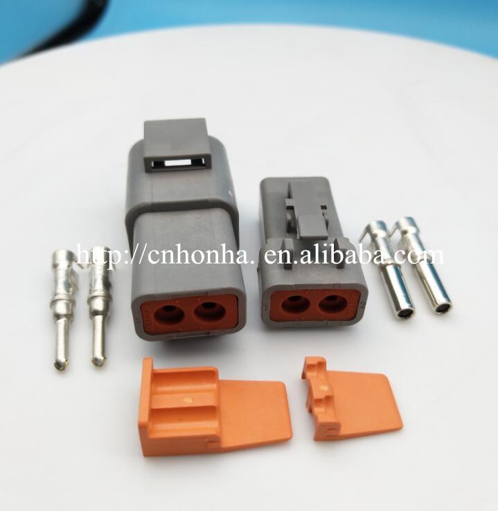 2 Pin DTP serie hombre mujer eléctrico a prueba de agua conector Auto DTP06-2S DTP04-2P para Deutsch