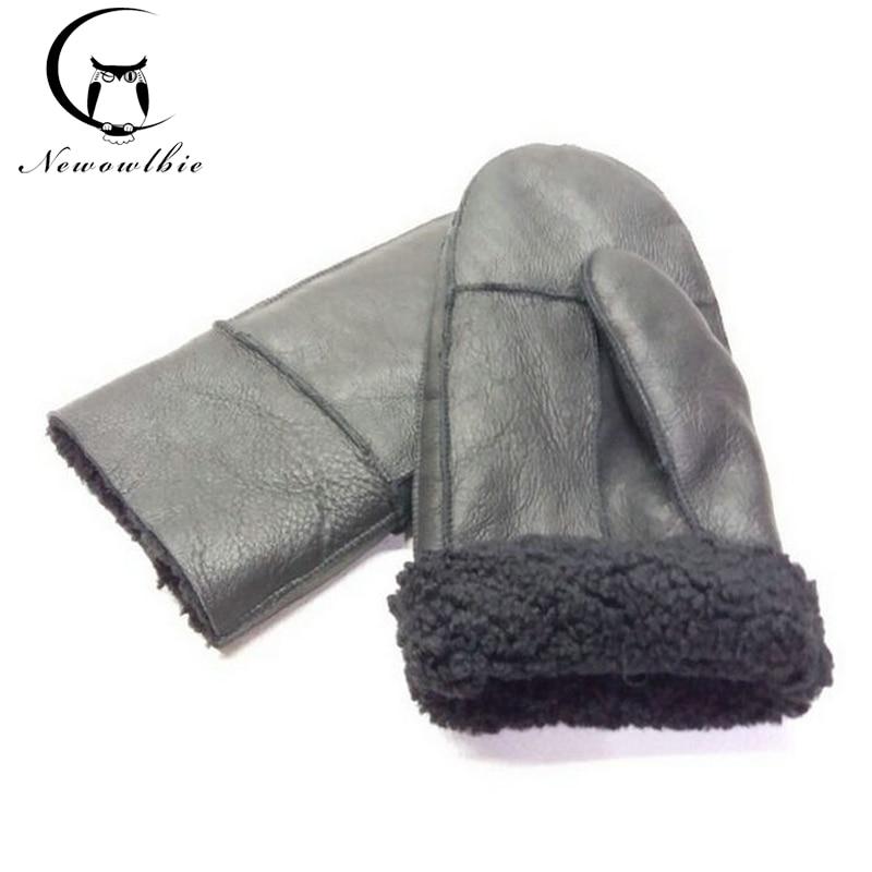 Рабочие зимние перчатки, мужские перчатки из овчины, перчатки из натуральной кожи для мужчин, зимние теплые плотные перчатки с мехом