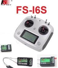 Transmisor Flysky FS-i6S 10CH 2,4G con pantalla táctil + FS iA6B iA10 receptor de FS-iA10B para coches y barcos por radiocontrol Drone Juguetes
