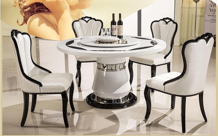 Ou eat-كرسي ترفيهي ، كرسي من الجلد الصناعي الأبيض الكوري ، خشب متين