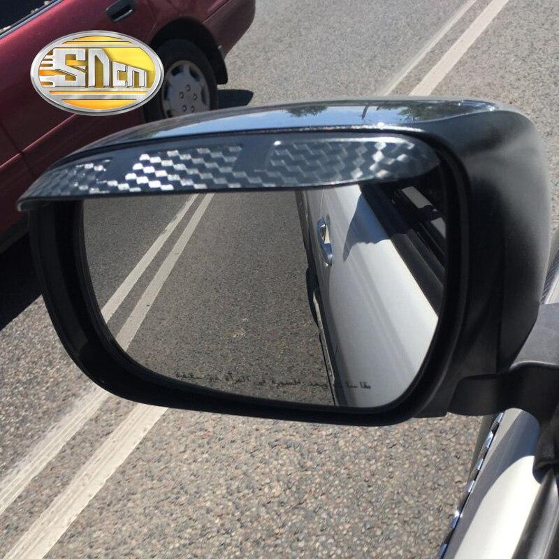 2 uds. Para Toyota Hilux Revo 2015-2018 espejo retrovisor para coche cubierta tipo ceja pegatinas decoración a prueba de lluvia Accesorios Estilo de coche