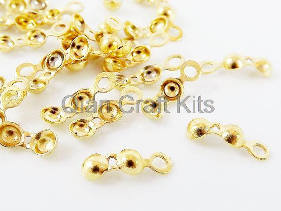 5000 stücke silber, gold, bronze Charlotte Falten Crimp Bead Knoten Spitze Abdeckung Enden Clamshell Überzogene endkappen, druckverschluss