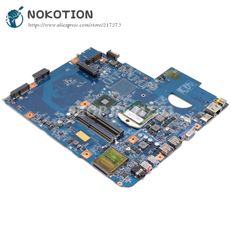 NOKOTION MBPM601002 لشركة أيسر أسباير 5740 5740G اللوحة الأم الكمبيوتر المحمول 48.4GD01.01M HM55 DDR3 الحرة i3 + المبرد