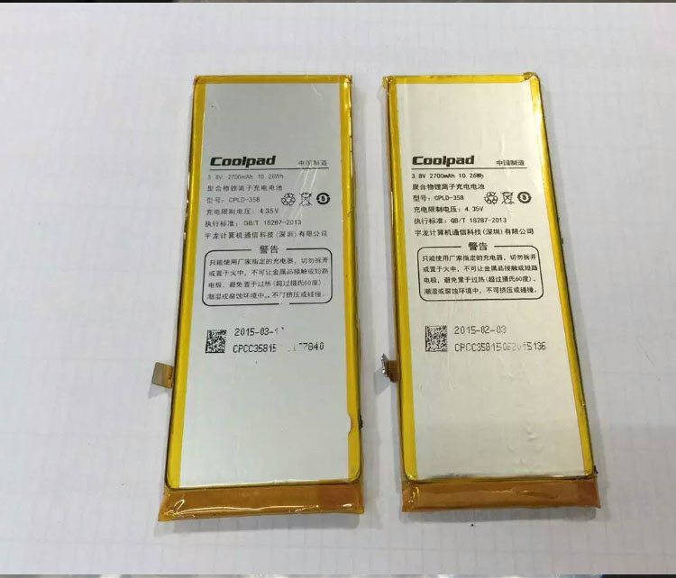 For Coolpad High Quality Original CPLD-358 X7 8691-00 8690-T00 mobile phone battery 2700mah Replacem