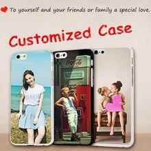 Coque de téléphone de conception personnalisée Coque imprimée pour iphone 4 5 6 7 8 X S Plus bricolage Photo silicone souple Transparent pour Samsung