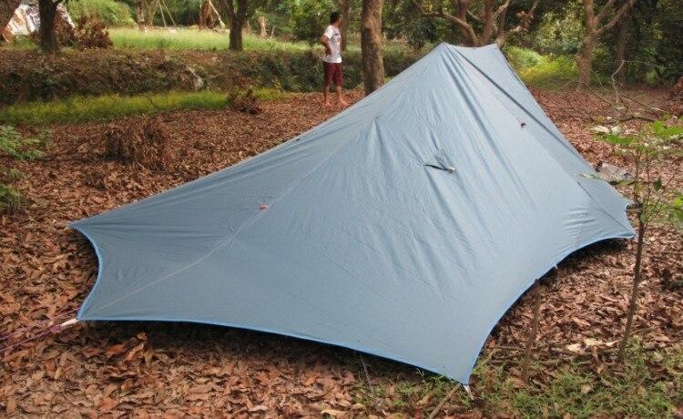 Axeman, tiendas grandes para acampar al aire libre, tres estaciones, 2-3 personas, ultralivianas, 20 D, una sola tienda de campaña externa, refugio solar