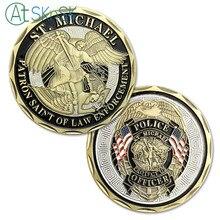 Saint Michael Patron de la Police   1/3/5/10 pièces, Saint Patron de la Police, défi commémoratif, pièces de protection, cadeaux pour pièces militaires américaines