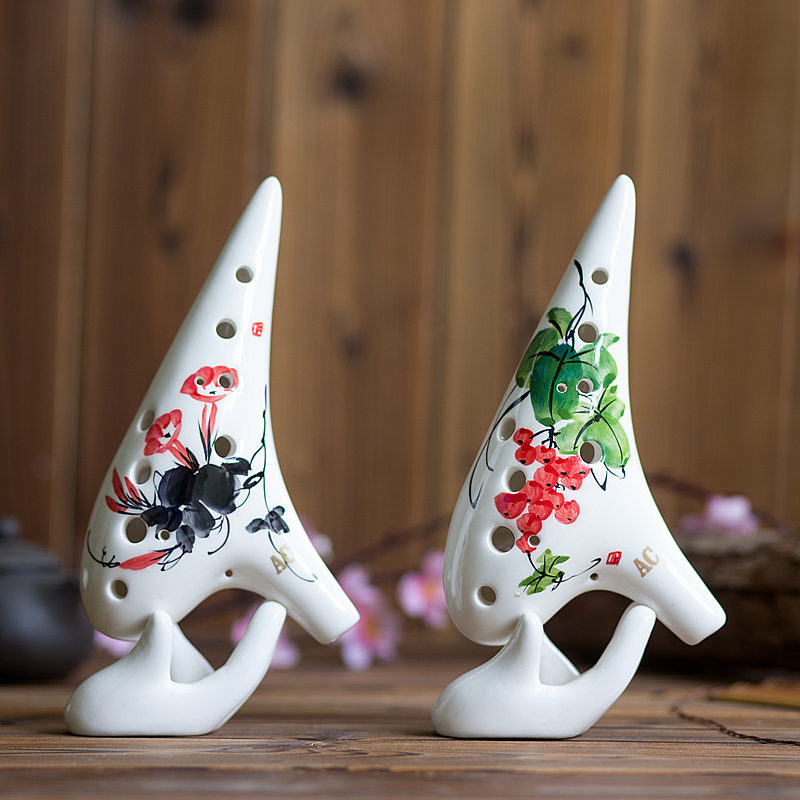 Tao alto flute wholesale 12 hole C hand-painted glaze professional ocarina Intonation sound good For the shop to learn