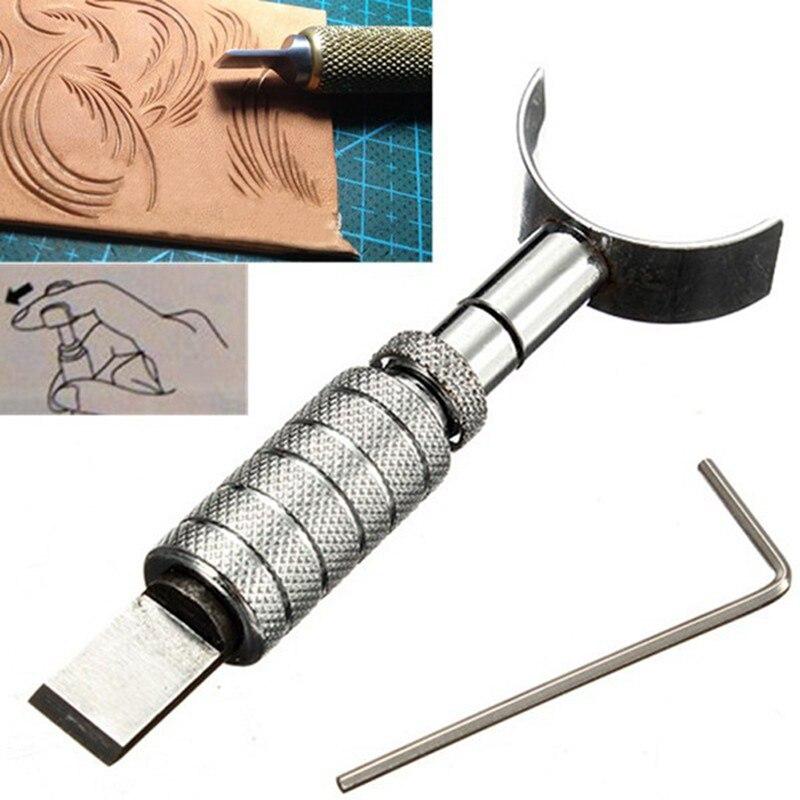 Artesanato de couro ajustável escultura giratória faca lâmina ferramenta conjunto diy ferramentas de couro artesanal rotativa escultura faca lâmina