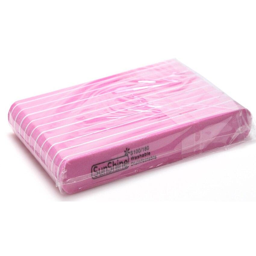 20Pcs/lot 100/180 Sponge Nail File Professional Shaped Nail Files Art Manicure Kits Nail Sanding File Sunshine Buffer Nail Dryer
