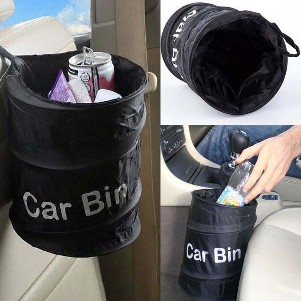 Plegable Bin coche de basura colgando plegable residuos bolsa