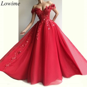 New Gorgeous Red Evening Dresses 2019 Long Off Shoulder Sweetheart Evening Prom Party Gowns With Appliques Pearls Vestidos