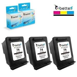 3pk, картриджи с чернилами для HP 74 Officejet j5700 j5725 j5730 J5735 j5738 j5740 j5750 j5780 J5783 j6450 j6480 j6488 Photosmart c4588