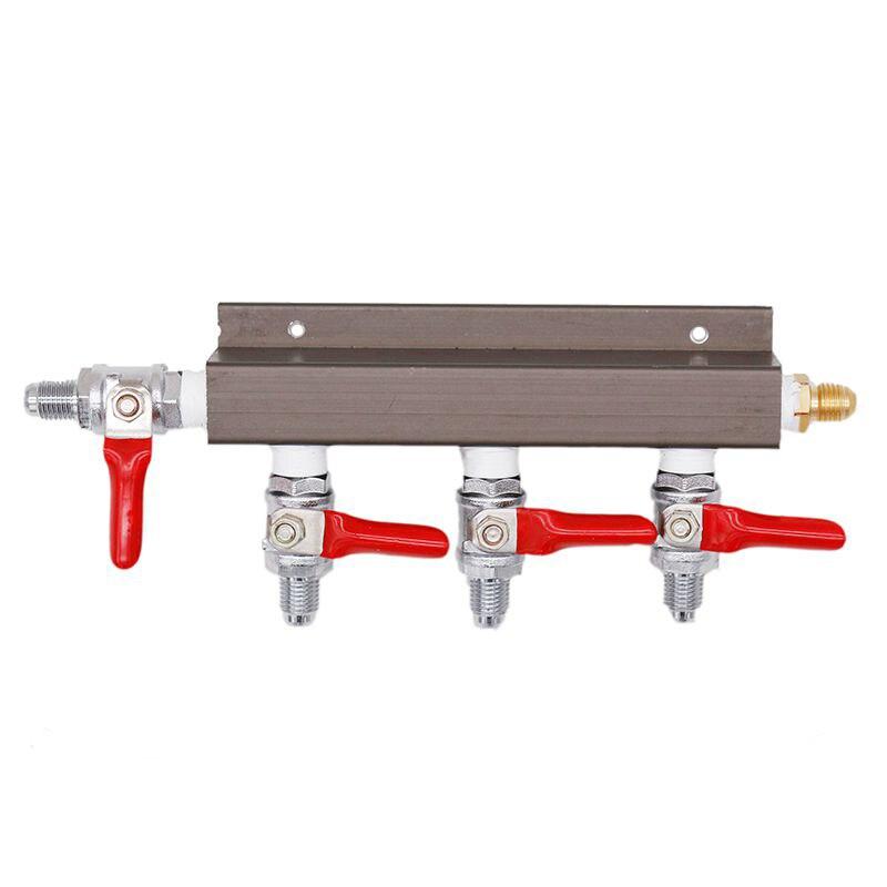"4-way Air Distributor CO2 Splitter Gas Manifold 1/4""MFL Inlet & Outlet Homebrew Kegging 100% No Leakage"