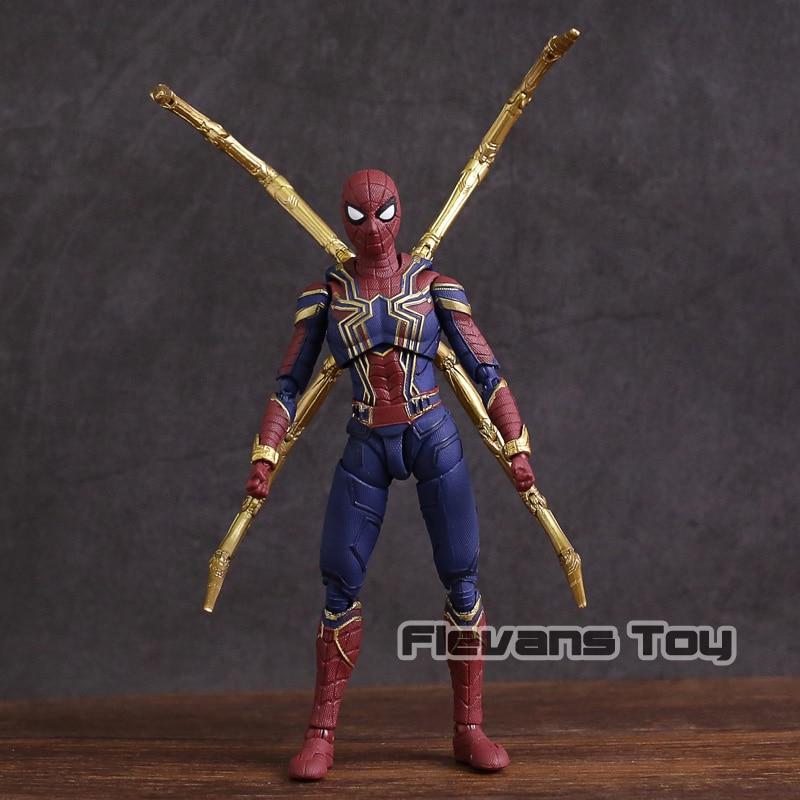 Marvel vengadores Infinity War Iron Spider-Man figura de acción de PVC juguete de modelos coleccionables