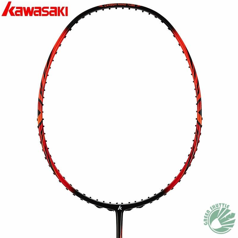 2020 Genuine Kawasaki 30T High Rigidity Carbon Fiberr Tension 666 Ad Badminton Racket High Tension G5 Racquets With Gift