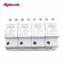 Bliksem Overspanningsbeveiliging Schakelaar Type voor AC Power SPD 4 P 25KA ~ 275VAC Huis Beschermende Low-voltage Afleider apparaat