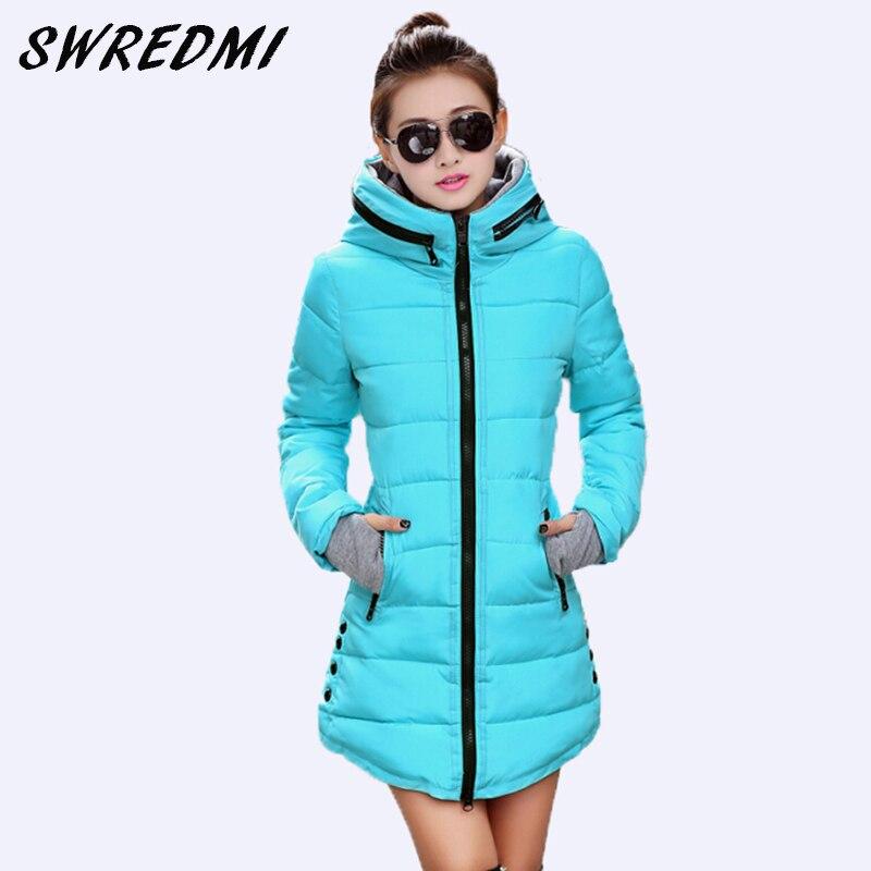 SWREDMI Women's Jacket Winter 2020 New Medium-Long Cotton Parka Plus Size Coat Slim Ladies Casual Clothing Hot Sale
