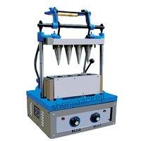 DST-4 קרח קרם ביצת מגש מכונת רקיק כוס יצרנית קונוס גלידה ביצוע מכונת 220 V (50Hz) 2400 W 1 pc