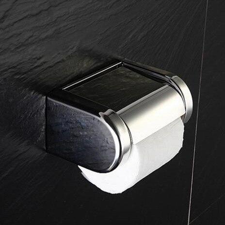 In acciaio inox porta carta igienica