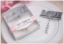 Wedding giveaways for guest LOVE Bottle Opener groom favors wine opener bridal gifts metal wine opener 100pcs/lot