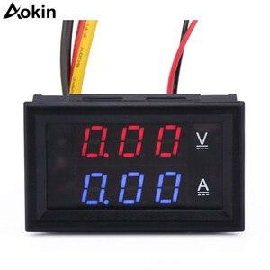 """0.28""""LED DC0-100V 10A Digital voltmeter Ammeter 2in1 Multimeter 12V/24V Voltage Amperage Meter Volt Amp Gauge Panel"""