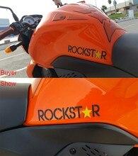 Rockstar 에너지 음료 스티커 오토바이 윙 미러 15x7.5 cm