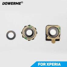 Dower Me nouvel objectif de caméra arrière avec adhésif autocollant pour Sony Xperia Z1 Z2 Z3 Z3V Z1mini Compact Z5mini Z5P XP